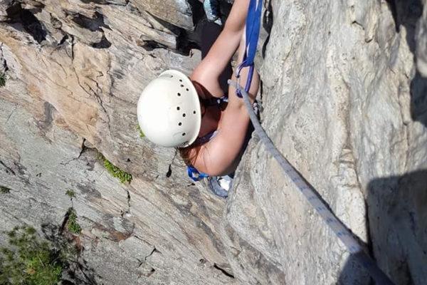 Marilyn climbing